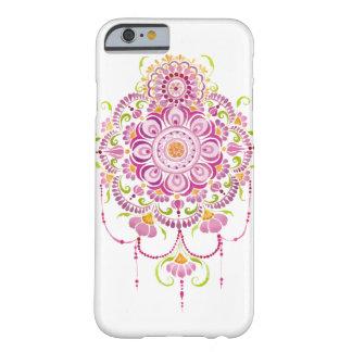 capa de telefone cor-de-rosa da flor da mandala da