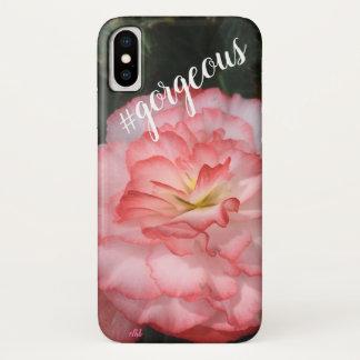 Capa de telefone cor-de-rosa da flor do gerânio