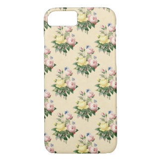Capa de telefone cor-de-rosa da flor do vintage