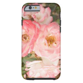 Capa de telefone cor-de-rosa do iPhone 6 da flor