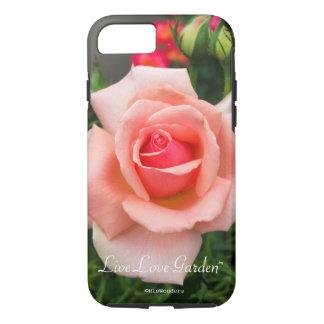 Capa de telefone cor-de-rosa do jardim vivo do