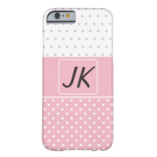 Capa de telefone cor-de-rosa e branca Monogrammed