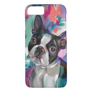 Capa de telefone da arte do cão de Boston Terrier