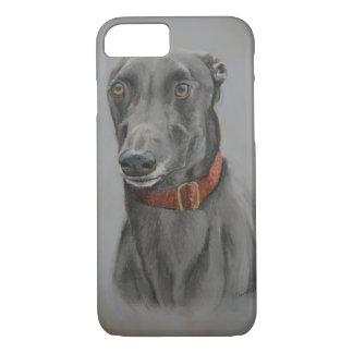 Capa de telefone da arte do cão do galgo