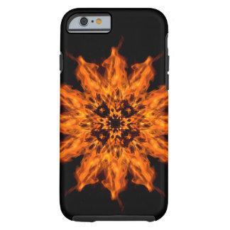 Capa de telefone da arte do fogo da mandala da