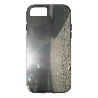 Capa de telefone da bola de futebol da luz solar