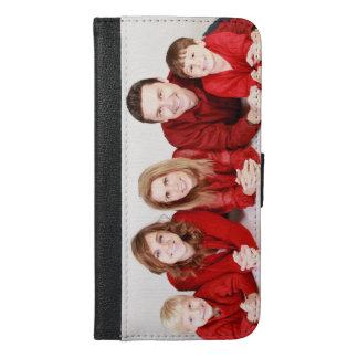 Capa de telefone da carteira do iPhone 6 da foto