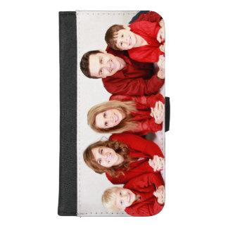 Capa de telefone da carteira do iPhone 8 da foto