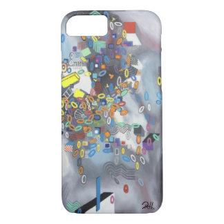 "Capa de telefone da ""dia da arte abstracta piscina"