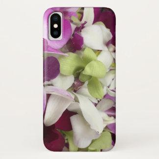 Capa de telefone da flor da orquídea