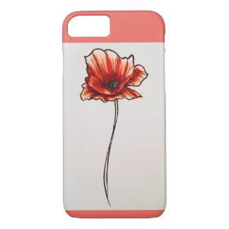 Capa de telefone da flor da papoila