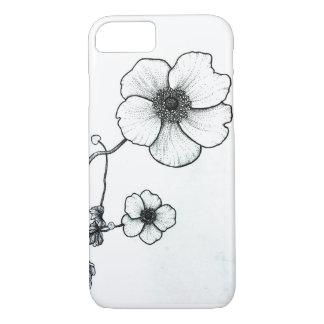 Capa de telefone da flor de Dotwork