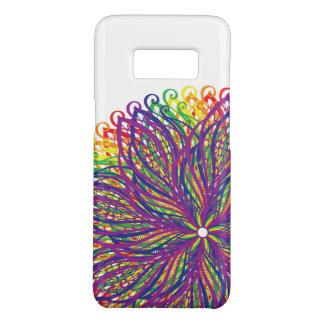Capa de telefone da flor do arco-íris