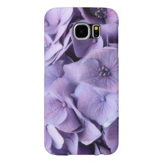 Capa de telefone da flor do Hydrangea da lavanda