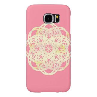 Capa de telefone da flor do laço do rosa do rosa