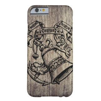 Capa de telefone da madeira & da âncora