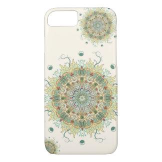 Capa de telefone da mandala da flor da alcachofra
