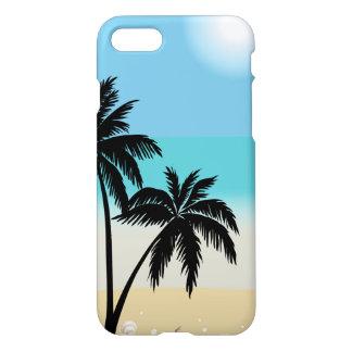Capa de telefone da palmeira da praia do verão