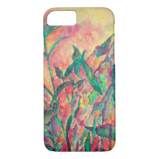 Capa de telefone da planta do arco-íris