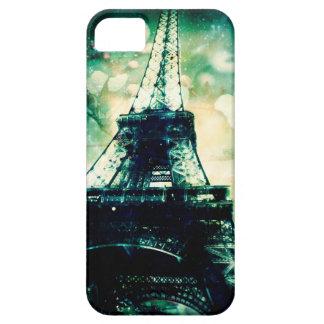Capa de telefone da torre Eiffel, floral verde Capa Barely There Para iPhone 5