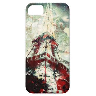Capa de telefone da torre Eiffel, olhar do vintage