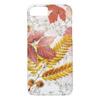 Capa de telefone das folhas & dos crisântemos de