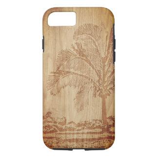 Capa de telefone de cinzeladura de madeira da