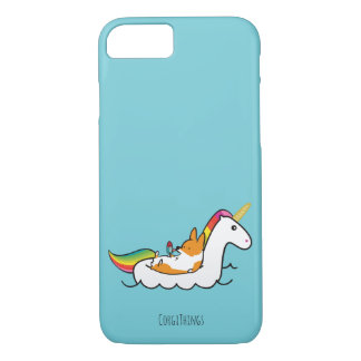 Capa de telefone de Floatie do unicórnio do Corgi