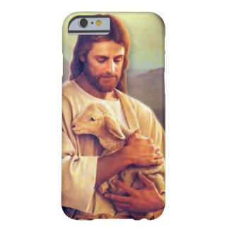 Capa de telefone de Jesus e de cordeiro