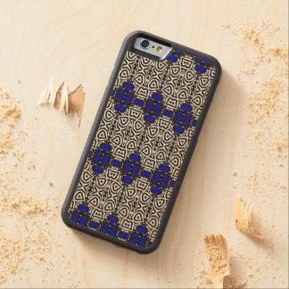 Capa de telefone de madeira - azul de Geo