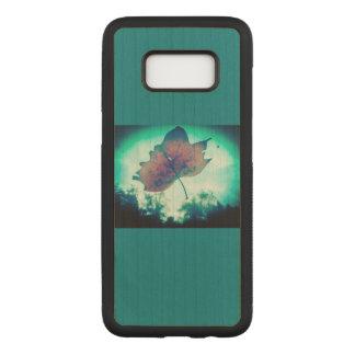 Capa de telefone de madeira da folha