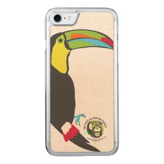 Capa de telefone de madeira de Toucan