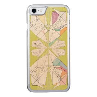 Capa de telefone de madeira geométrica
