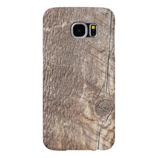 Capa Para Samsung Galaxy S6 Capa de telefone de madeira resistida da foto da