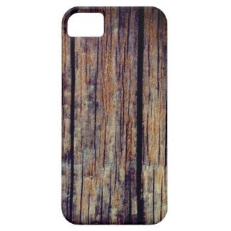 Capa de telefone de madeira velha