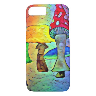 Capa de telefone de néon do cogumelo