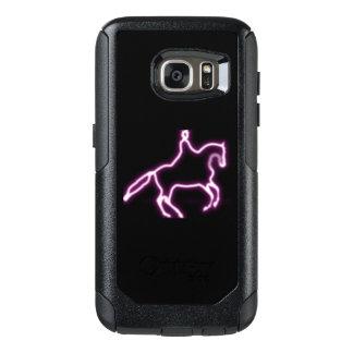 Capa de telefone de néon roxa do cavalo do