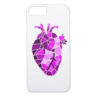 Capa de telefone de pedra anatômica do coração