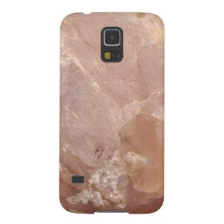 Capa de telefone de quartzo cor-de-rosa - pedra