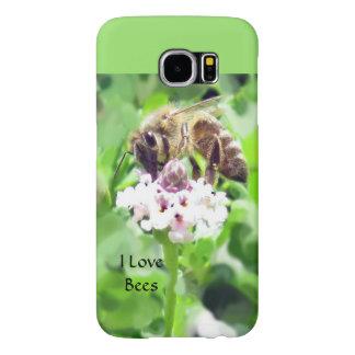 Capa de telefone de Samsung - abelha na flor