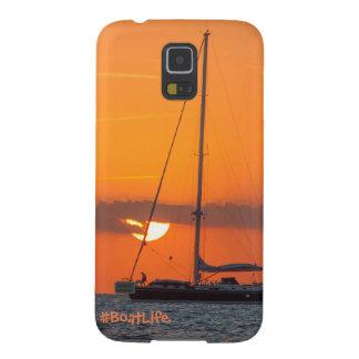 Capa de telefone de Samsung S5 do por do sol da