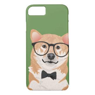 Capa de telefone de Shiba Inu do hipster