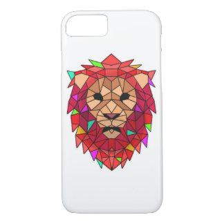 Capa de telefone de vidro do leão