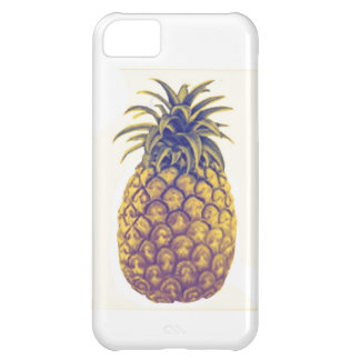Capa de telefone do abacaxi do vintage capa para iPhone 5C