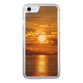Capa de telefone do Alasca do por do sol