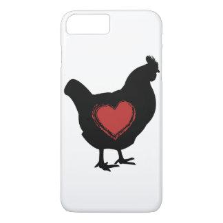 Capa de telefone do amor da galinha