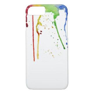 Capa de telefone do arco-íris da aguarela