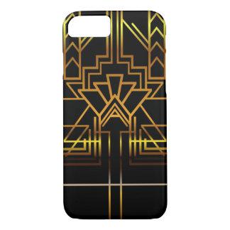 Capa de telefone do art deco do ouro