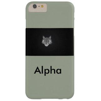 Capa de telefone do bloco de lobo