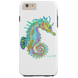 Capa de telefone do cavalo marinho do arco-íris